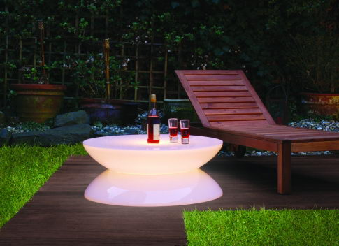 table basse lumineuse et luminsescente design
