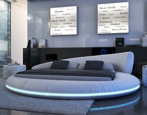 cool lit rond veyron royaldeco with lit double rond. Black Bedroom Furniture Sets. Home Design Ideas