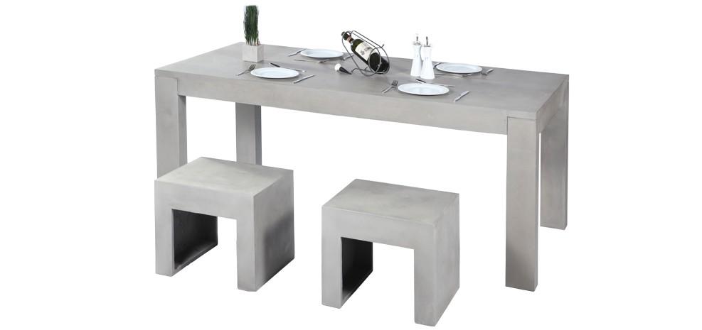 Le mobilier en b ton l urbain reprend ses droits blog - Table haute beton ...