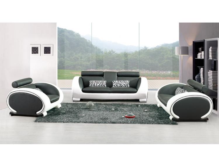 Focus dans votre salon petite s lection de canap s - Canape design noir et blanc ...